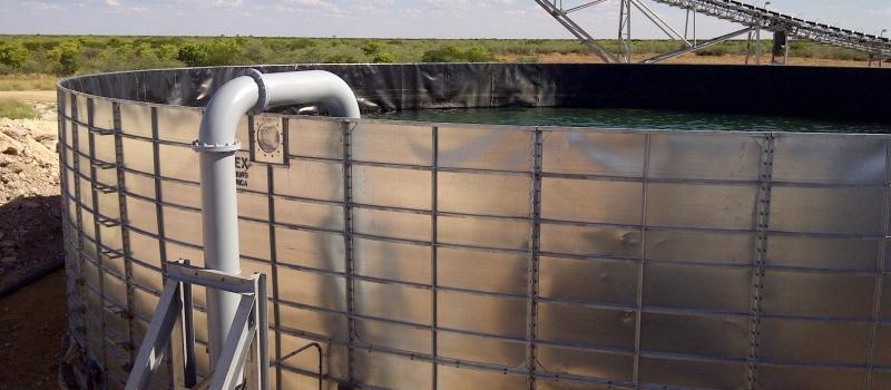 Panel tank bulk water storage