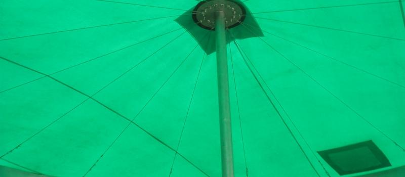 Tarpaulin roof for grain silo