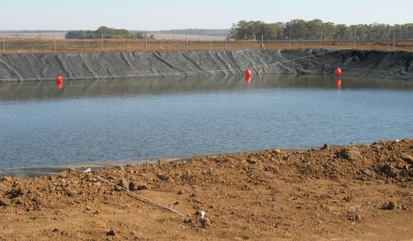 Hyrex - Completed pollution control dam