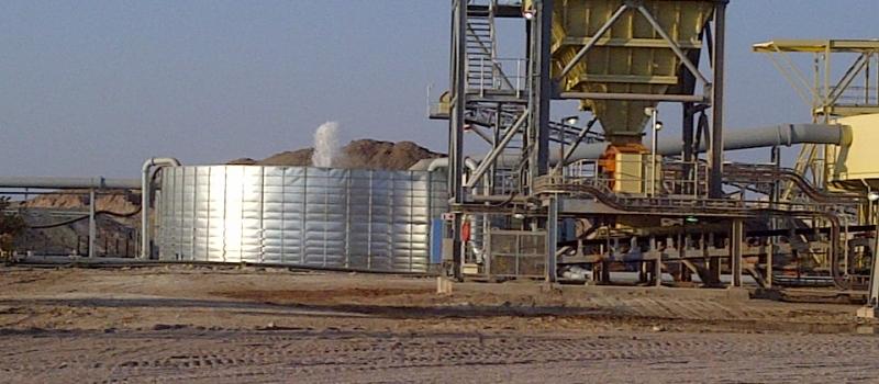 Mine water storage
