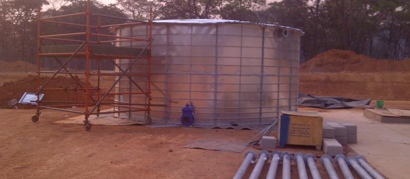 Sewage treatment reservoir