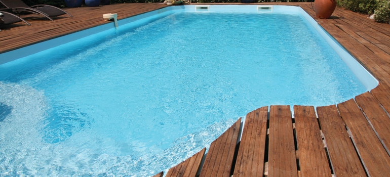Hydrex - pool with wooden decking